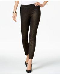 Eci Cropped Wide-Leg Gaucho Pants in Black   Lyst