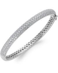 Arabella - Swarovski Zirconia Pave Bangle Bracelet In Sterling Silver (5 Ct. T.w.) - Lyst