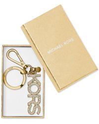 Michael Kors - Michael Boxed Rhinestone Kors Key Fob - Lyst