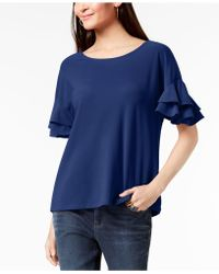 INC International Concepts - I.n.c. Petite Ruffled-sleeve Top, Created For Macy's - Lyst
