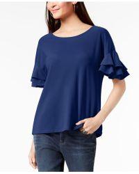INC International Concepts - I.n.c. Petite Ruffled-sleeve Top, Created For Macy's - Lyst