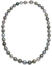 Macy's - Tahitian Multi-color Pearl Necklace (8-10mm) In 14k Gold - Lyst
