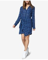 Sanctuary - Ani Chequered Side-tied Dress - Lyst