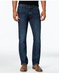 Tommy Hilfiger - Men's Straight-leg Dark Wash Jeans - Lyst