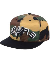 749e4f9af04 Mitchell   Ness - San Antonio Spurs Woodland Camo Hook Snapback Cap - Lyst