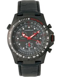 Morphic - M36 Series Leather-band Chronograph Watch - Black - Lyst
