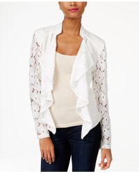 INC International Concepts - Drape-front Lace Jacket - Lyst