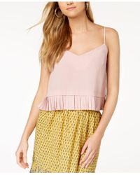 French Connection - Pleated-hem Top - Lyst