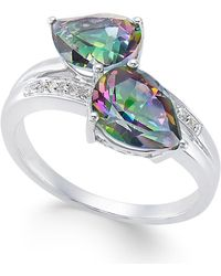 Macy's - Mystic Fire Topaz (4 Ct. T.w.) And Diamond Accent Ring In 14k White Gold - Lyst