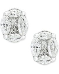 Effy Collection - Diamond Stud Earrings (1-1/8 Ct. T.w.) In 14k White Gold - Lyst