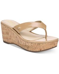 998058caff6be Lyst - Circus By Sam Edelman Baker Espadrille Wedge Sandals in White