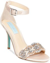 Betsey Johnson - Gina Embellished Evening Sandals - Lyst