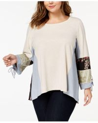 Style & Co.   Plus Size Mixed-print Top, Created For Macy's   Lyst