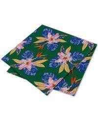 Tommy Hilfiger - Orchid Fond Silk Pocket Square - Lyst