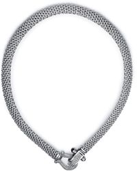 Macy's - Diamond Mesh Necklace In Sterling Silver (5/8 Ct. T.w.) - Lyst