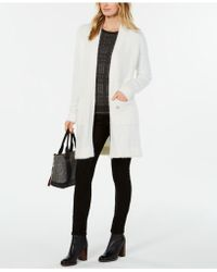 Tommy Hilfiger - Fuzzy Open-front Cardigan, Created For Macy's - Lyst