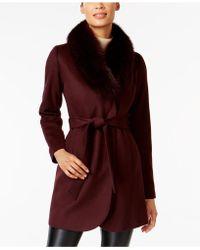 Forecaster | Fox-fur-trim Shawl-collar Coat | Lyst