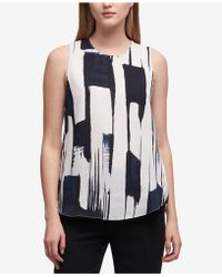 DKNY - Printed Top, Created For Macy's - Lyst