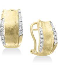 Effy Collection - Diamond Hoop Earrings (3/8 Ct. T.w.) In 14k Gold - Lyst
