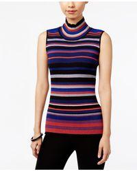 Eci - Sleeveless Mock-turtleneck Sweater - Lyst