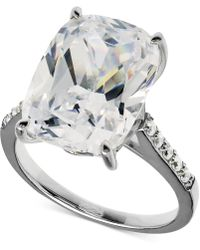 Arabella - Swarovski Zirconia Oval Ring In Sterling Silver (15-5/8 Ct. T.w.) - Lyst