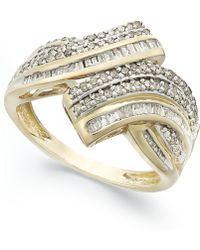 Wrapped in Love - Diamond Twist Ring In 10k Gold (1 Ct. T.w.) - Lyst