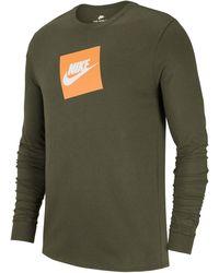 Nike - Sportswear Futura Shoebox Logo Long-sleeve T-shirt - Lyst 9904fc738