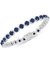 Macy's - Sapphire Tennis Bracelet (17 Ct. T.w.) In Sterling Silver - Lyst