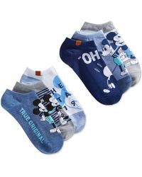 Disney - 6-pk. Mickey Mouse Denim Blues No-show Socks - Lyst