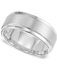 Triton - Men's White Tungsten Carbide Ring, Comfort Fit Wedding Band (9mm) - Lyst