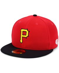 buy online 7c8a6 2e93d KTZ - Pittsburgh Pirates Cooperstown Flip 59fifty Fitted Cap - Lyst