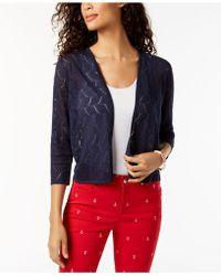 Charter Club - Petite Pointelle Cardigan, Created For Macy's - Lyst