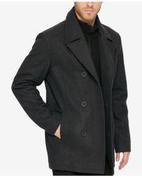 Kenneth Cole Reaction - Men's Bibbed Pea Coat - Lyst