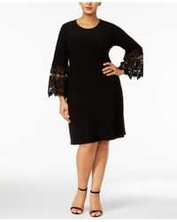 Alfani - Plus Size Lace-sleeve A-line Dress - Lyst