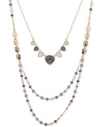 """Lonna & Lilly - Gold-tone Pavé, Stone & Bead 18"""" 2-in-1 Necklace - Lyst"""