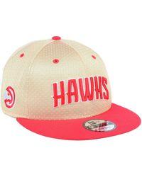 best website 9be6b 1195e KTZ Atlanta Hawks Faux Leather 9fifty Snapback Cap in Black for Men - Lyst