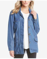 Karen Kane - Belted Denim Utility Jacket - Lyst