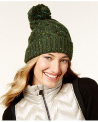 Steve Madden - Speckled Cable Beanie - Lyst