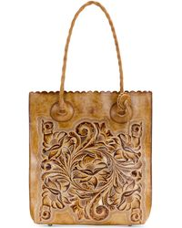 Patricia Nash - Burnished Tooled Cavo Medium Tote - Lyst