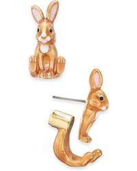 Kate Spade - Gold-tone Bunny Ear Jacket Earrings - Lyst