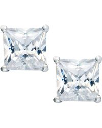 Giani Bernini - Sterling Silver Earrings, Square Cubic Zirconia Studs (3-1/3 Ct. T.w.) - Lyst