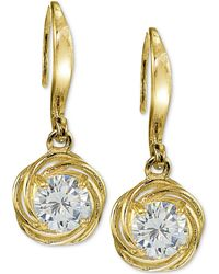 Giani Bernini - Cubic Zirconia Drop Earrings In Sterling Silver, Created For Macy's - Lyst
