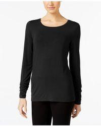 Alfani - Petite Long-sleeve Ruched Top - Lyst