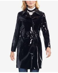 Vince Camuto - Faux-leather Trench Coat - Lyst