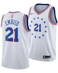 4126ded8d16 Nike - Joel Embiid Philadelphia 76ers Earned Edition Swingman Jersey - Lyst