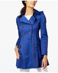 Via Spiga - Hooded Skirted Trenchcoat - Lyst