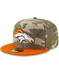 competitive price c6520 f06f2 KTZ - Denver Broncos Vintage Camo 59fifty Fitted Cap - Lyst