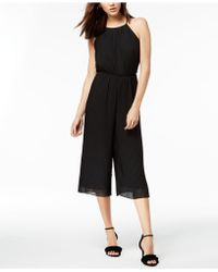 Maison Jules - Pleated Cropped Jumpsuit, Created For Macy's - Lyst