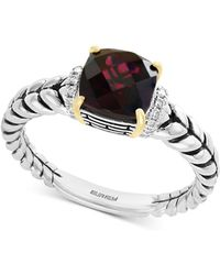 Effy Collection - Effy® Rhodolite Garnet (1-9/10 Ct. T.w.) & Diamond Accent Statement Ring In Sterling Silver & 18k Gold - Lyst