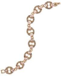 Marchesa - Gold-tone Crystal Flex Bracelet - Lyst